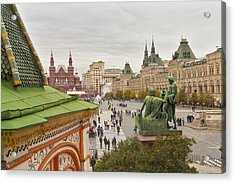 View Of Red Square In Moscow Acrylic Print