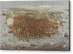 View Of San Francisco Acrylic Print by American School