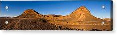 View Of Sand Dunes, Sahara Desert Acrylic Print by Panoramic Images