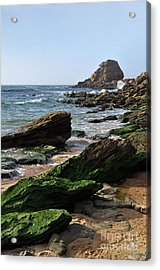View Of Santa Rita Beach In Torres Vedras Acrylic Print