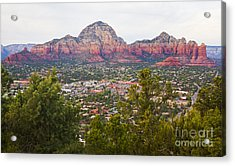 Acrylic Print featuring the photograph View Of Sedona From The Airport Mesa by Chris Dutton