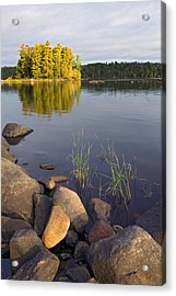 View Of Small Island From Rocky Shore Acrylic Print by Panoramic Images