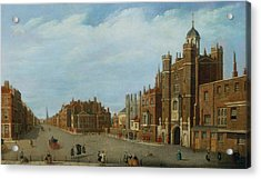 View Of St. James's Palace And Pall Mal Acrylic Print by William James