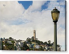 View Of Telegraph Hill Neighborhood San Francisco Acrylic Print