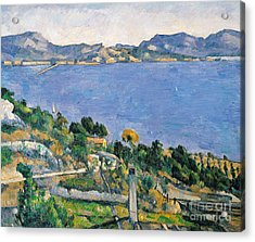 View Of The Bay Of Marseilles Acrylic Print by Paul Cezanne