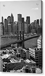 View Of The Brooklyn Bridge Acrylic Print
