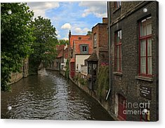 View Of The Canal From Maria Brug On Katelijnestraat In Bruges Acrylic Print