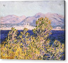 View Of The Cap Dantibes With The Mistral Blowing Acrylic Print by Claude Monet