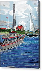 View Of The Fire Island Lighthouse From The Great South Bay Acrylic Print