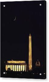 View Of The Lincoln And Washington Acrylic Print by Karen Kasmauski