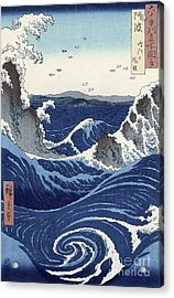 View Of The Naruto Whirlpools At Awa Acrylic Print by Hiroshige