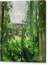 View Of The Outskirts Acrylic Print by Paul Cezanne