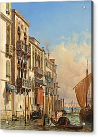 View Of The Palazzetto Contarini Pheasant Conditions Acrylic Print