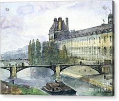 View Of The Pavillon De Flore Of The Louvre Acrylic Print