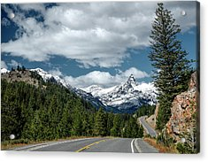 View Of The Pilot Peak From Highway 212 Acrylic Print