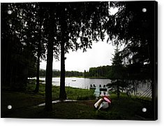 Acrylic Print featuring the photograph View Of The Pond by David Patterson