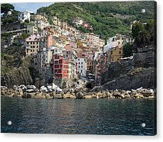 View Of The Riomaggiore, La Spezia Acrylic Print by Panoramic Images