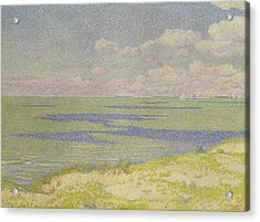 View Of The River Scheldt Acrylic Print by Theo van Rysselberghe