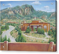 Acrylic Print featuring the painting View Of The Sandias by Oz Freedgood