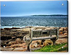 View Of The Sea Acrylic Print by Tricia Marchlik