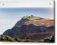 View Of The Trails On Howth Cliffs And Howth Head In Ireland Acrylic Print by Semmick Photo