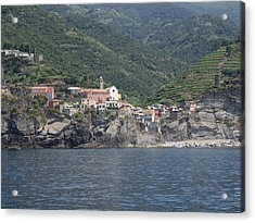 View Of The Vernazza, La Spezia Acrylic Print by Panoramic Images