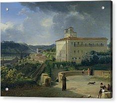 View Of The Villa Medici In Rome Acrylic Print by Nicolas Antoine Taunay