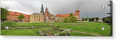 View Of The Wawel Castle With The Wawel Acrylic Print by Panoramic Images