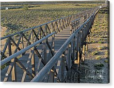 View Of The Wooden Bridge In Quinta Do Lago Acrylic Print
