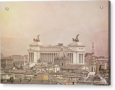 View Of Vittoriano In Rome Acrylic Print by JAMART Photography