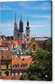 View Of Zagreb Acrylic Print by Rae Tucker