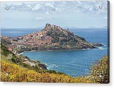 View On Castelsardo Acrylic Print by Patricia Hofmeester