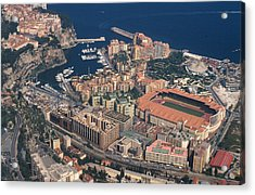 View On Monte Carlo On French Riviera Acrylic Print by Carl Purcell