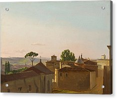 View On The Quirinal Hill. Rome Acrylic Print by Simon Denis