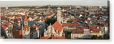 View Over Munich With Frauenkirche Acrylic Print by Greg Dale