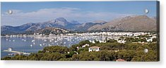View Over Port De Pollenca To Serra De Acrylic Print