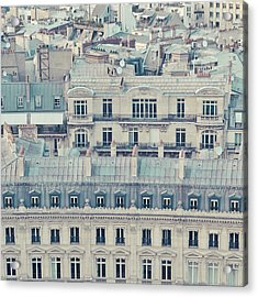 View Over Rooftops Of Paris Acrylic Print by Cindy Prins