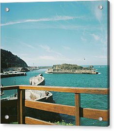 View Over The Ocean Port Acrylic Print
