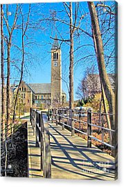 View To Mcgraw Tower Acrylic Print