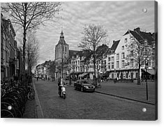 View To The Bosch Street In Maastricht Acrylic Print by Nop Briex