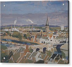 View To The East Bank Of Maastricht Acrylic Print