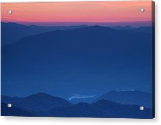 View Towards Fontana Lake At Sunset Acrylic Print