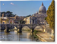 View Towards Saint Peter's Basilica Acrylic Print