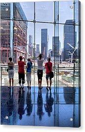 Viewing Ground Zero Acrylic Print by Robert Ullmann