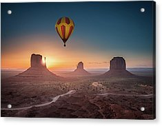 Viewing Sunrise At Monument Valley Acrylic Print