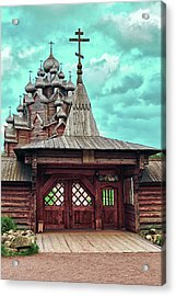views of Holy gates and Church of the Intercession of the blessed virgin Mary Acrylic Print