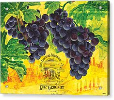 Vigne De Raisins Acrylic Print by Debbie DeWitt