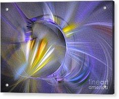 Acrylic Print featuring the digital art Vigor - Abstract Art by Sipo Liimatainen