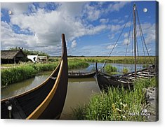 Viking Boats Acrylic Print by Robert Lacy