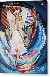 Blaa Kattproduksjoner   Welcomes Viking Goddess  To  Egypt Acrylic Print
